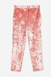 Bonded Velvet Trousers at Topshop