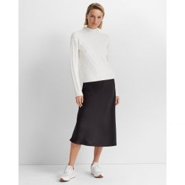 Cable front turtleneck sweater at Club Monaco