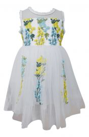 Popatu Embroidered Floral Tulle Dress at Nordstrom