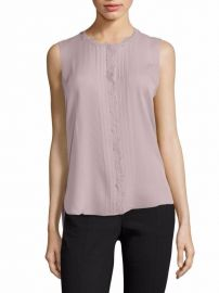 Elie Tahari Amerie Embellished Silk Top at Saks Fifth Avenue