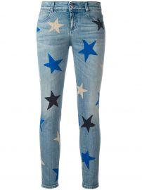 Stella McCartney Star print cropped jeans at Farfetch