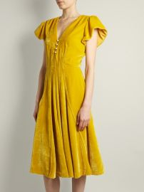 Altuzarra Camilla V-neck velvet midi dress at Matches