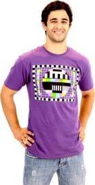 Checkered Test Pattern Purple Mens T-shirt at Amazon