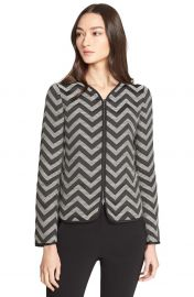 Chevron Tailored Zip Front Jacket by Armani Collezioni at Nordstrom