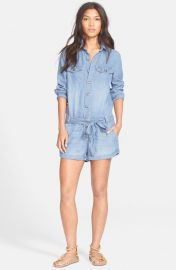 Drapey Chambray Romper by Free People at Nordstrom