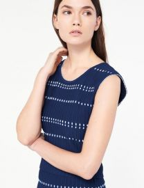 Elasticated Knit Sleeveless Sweater at Sandro