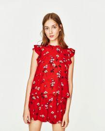 Floral Print Top at Zara