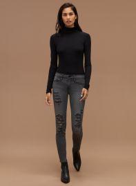 Frame Le Colour Rip Grey Jeans at Aritzia