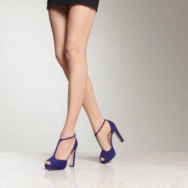 L K Bennett Baileigh Ultra Violet Suede Sandals  at L.K. Bennett