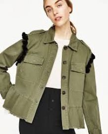 Parka with Embroidery and Pom Poms at Zara