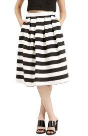 Stripe Midi Skirt by Topshop at Nordstrom
