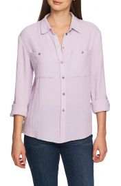 1 STATE Patch Pocket Gauze Top   Nordstrom at Nordstrom