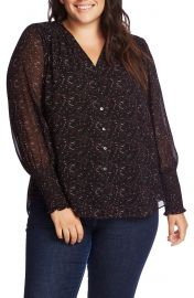 1 STATE Print Button-Up Blouse  Plus Size    Nordstrom at Nordstrom