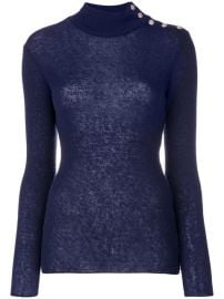 1 079 Balmain Button-embellished Turtleneck Jumper - Buy Online - Fast Delivery  Price  Photo at Farfetch