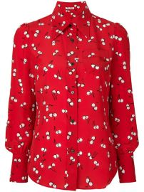 1 140 Miu Miu Cherry Print Shirt - Buy Online - Fast Delivery  Price  Photo at Farfetch