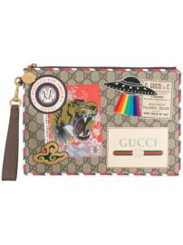 1 150 Gucci GG Supreme Applique Pouch - Buy Online - Fast Delivery  Price  Photo at Farfetch