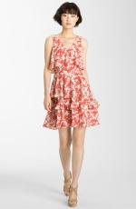 Lemon's red and white dress at Nordstrom