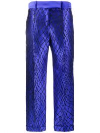 1 601 Haider Ackermann Mid-Rise Trousers With Net Embroidery - Buy Online - Fast Delivery  Price  Photo at Farfetch