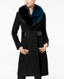 1 Madison Expedition by Fox-Fur-Collar Walker Coat at Macys