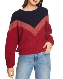1 STATE Chevron Crewneck Sweater Women - Bloomingdale s at Bloomingdales
