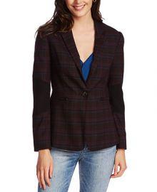 1 STATE One-Button Plaid Blazer   Reviews - Jackets   Blazers - Women - Macy s at Macys