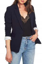 1 STATE One-Button Stretch Crepe Blazer   Nordstrom at Nordstrom
