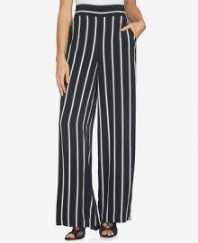 1 STATE Striped Wide-Leg Pants at Macys