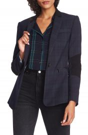1 STATE Wild One Contrast Panel Plaid Blazer   Nordstrom at Nordstrom