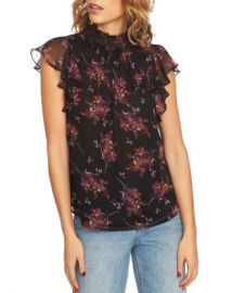 1 STATE Wildflower Flutter-Sleeve Top Women - Bloomingdale s at Bloomingdales