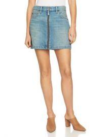 1 STATE Zip-Front Denim Mini Skirt Women - Bloomingdale s at Bloomingdales