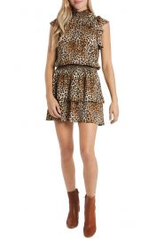 1 State Print Smocked Waist Dress at Nordstrom