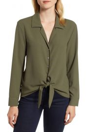 1 State Tie front blouse at Nordstrom