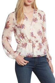 1.State Wildflower V-Neck Peplum Blouse at Nordstrom Rack