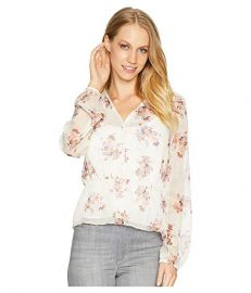 1.State Wildflower V-Neck Peplum Blouse at Zappos