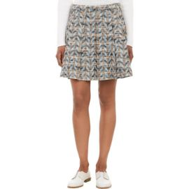 10 Crosby Derek Lam Geometric-Tweed Box-Pleat Skirt at Barneys