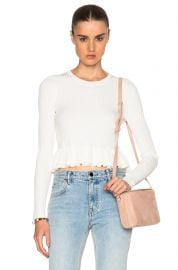 10 Crosby by Derek Lam Ruffle Hem Sweater at Forward