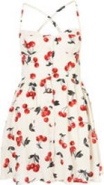 Cherry print dress  at Topshop