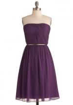 Purple strapless dress like Ivys at Modcloth