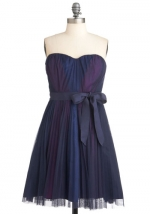 Strapless purple dress at Modcloth