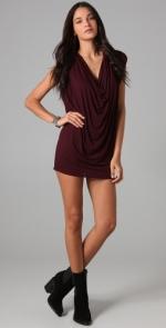 Sleeveless cowl neck mini dress at Shopbop