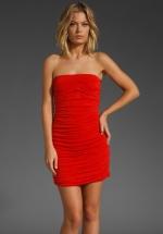 Red strapless dress like Karens at Revolve