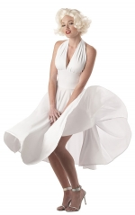 White Marilyn Monroe dress at Amazon
