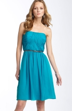 Strapless blue dress at Nordstrom