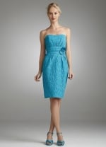 Strapless turquoise dress like Lemon's at Amazon