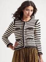 Zoe's striped jacket at Saks Fifth Avenue