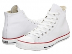 White Converse hi tops at Zappos