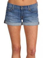 Denim roll up shorts at Zappos