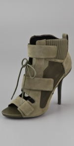Exact same shoes in olive green at Shopbop