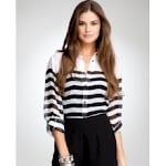 Sheer striped top like Zoes at Bebe