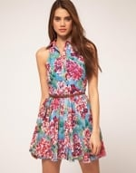Blue and pink dress like Lemons at Asos